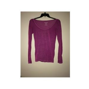 American Eagle purple long sleeved shirt